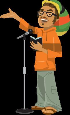 Poet Microphone | Clipart