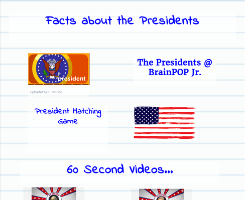 2nd Grade...4 Facts about a President