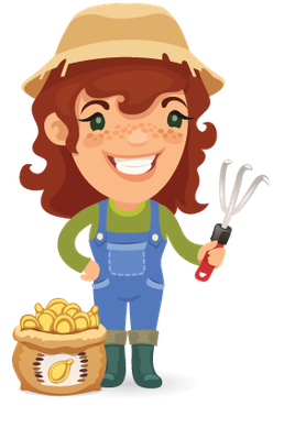 Farmers Cartoon Characters Set 11 | Clipart