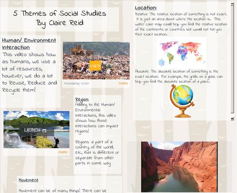 5 Themes of Social Studies