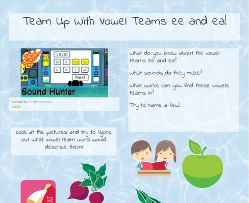 Team Up With Vowel Teams