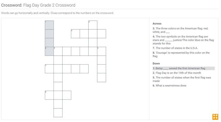 Flag Day | Grade 2 Crossword