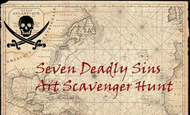 Seven Deadly Sins Art Scavenger Hunt Lesson Plan