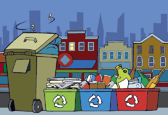 Cities - Trash and Recycling | Clipart