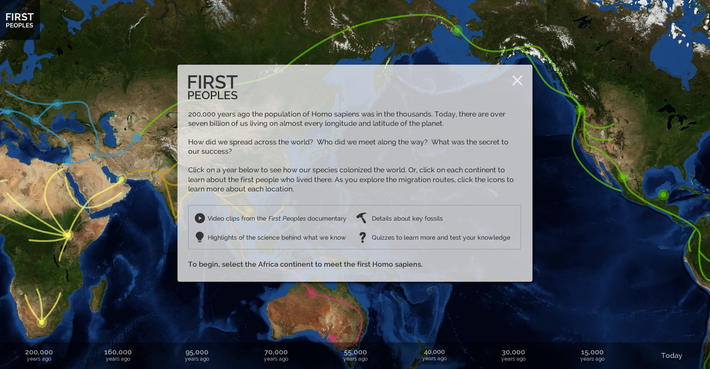 First Peoples Interactive Landing Page