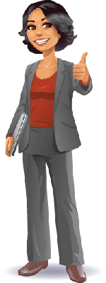 Businesswoman: Thumb Up | Clipart