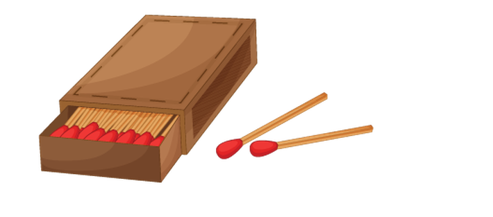 Various Objects of Camping - Matches | Clipart