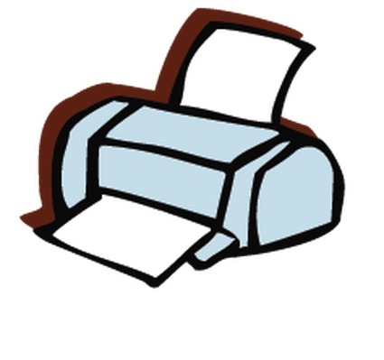 Electronics - Computer Printer | Clipart