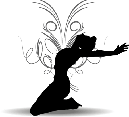 Funky Girl Silhouette | Clipart