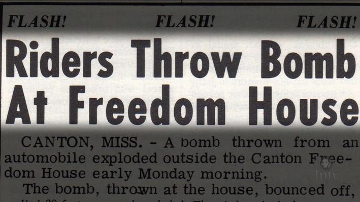 Freedom House Bombed in Canton Mississippi