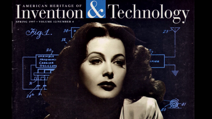 Hedy Lamarr on the cover on American Heritage of Invention & Technology