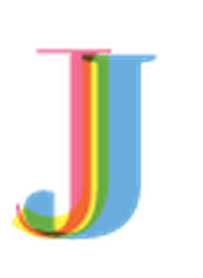 Four-Color Alphabet Letters - J | Clipart