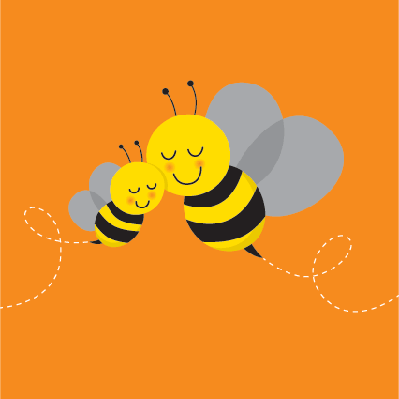 Two Bees | Clipart