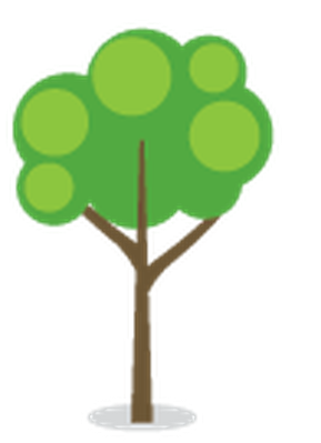 Stylized Trees - 10 | Clipart