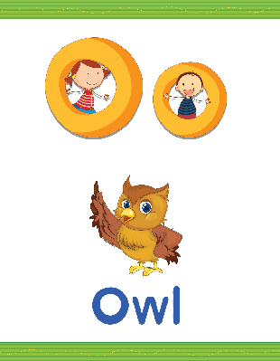 Alphabet Worksheets - O for Owl | Clipart
