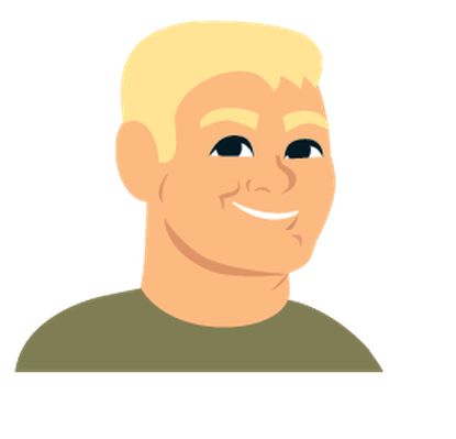 Cartoon Avatar Portrait of Man (Set 2) | Clipart
