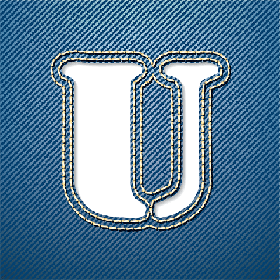 Denim Jeans: Letter U | Clipart