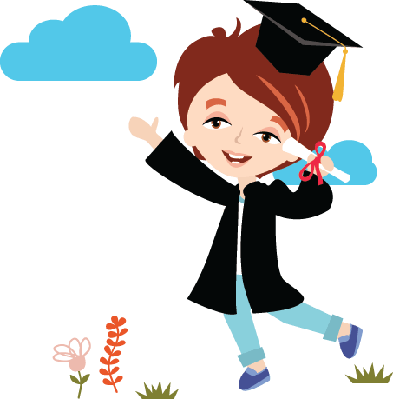 Graduate with Copy Space | Clipart