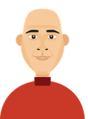 Men's Hair - Bald 1 | Clipart