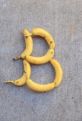 Letter B for Bananas | Clipart