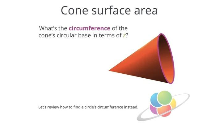 Cone Surface Area | School Yourself Geometry