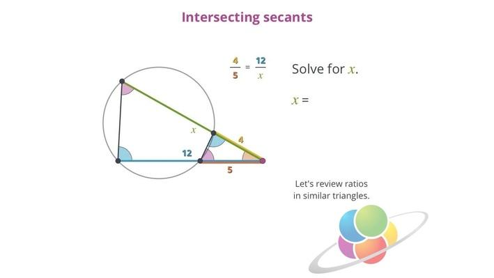 Intersecting Secants | School Yourself Geometry
