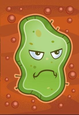 Cartoon Germ | Health and Nutrition