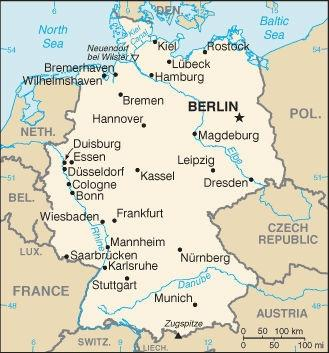 Map Of Germany Essen.Map Of Germany Pbs Learningmedia