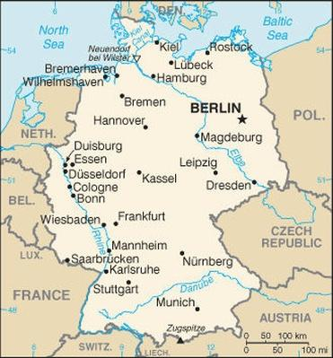 Map Of Germany Jpg.Map Of Germany Pbs Learningmedia
