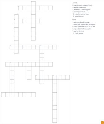 Crossword Puzzle Unit 3-4 ML 2015