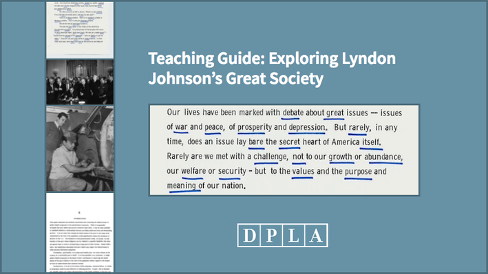 Teaching Guide: Exploring Lyndon Johnson's Great Society