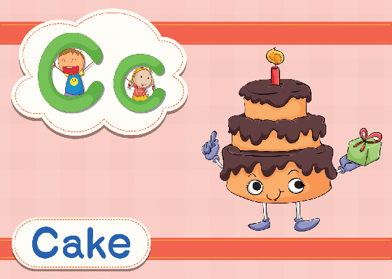 Vocabulary Cards - C for Cake   Clipart