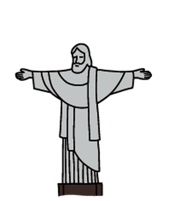 Landmarks - Christ the Redeemer | Clipart