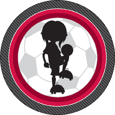 Soccer Football Girl Silhouette | Clipart