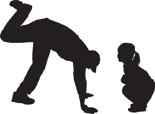 Silhouette of a Family | Clipart