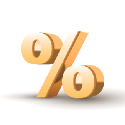 Golden Percent Symbol | Clipart