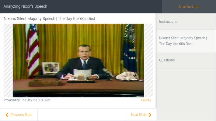 Analyzing Nixon's Speech
