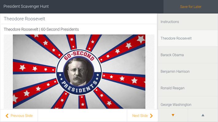 President Scavenger Hunt