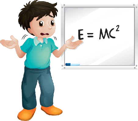 Boy Showing White Board | Clipart
