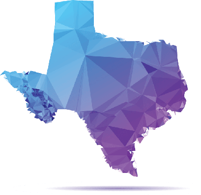 Polygon Triangle Map, Blue: Texas | Clipart