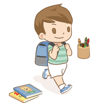 From Baby to First Day Of School | Clipart