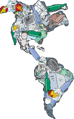 Landfill, The Americas -  Importance of Recycling | Clipart