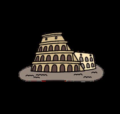 Landmarks - Colosseum | Clipart