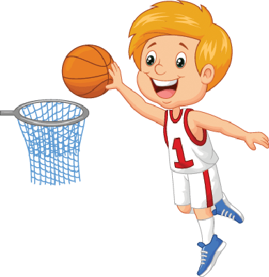 Little Boy Playing Basketball | Clipart