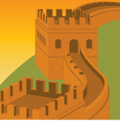 Travel Destinations - Great Wall of China | Clipart