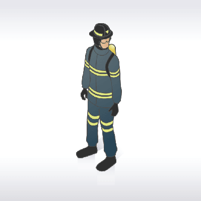Firefighter Illustration | Clipart