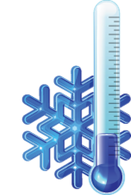 Red and Blue Thermometers | Clipart