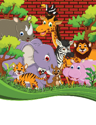 Cute Animal Wildlife Cartoon for Your Design | Clipart