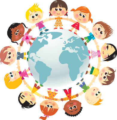 Children in Unity Around The World | Clipart