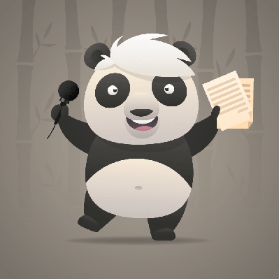 Cheerful Panda Sings Songs and Dances | Clipart